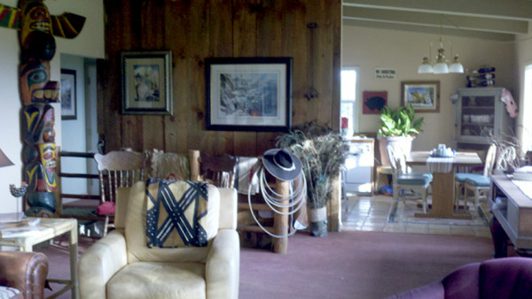 Living Room and  Dining Room, Flying Pig Ranch House